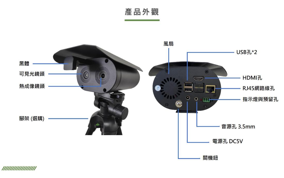 多點式熱影像測溫一體機功能說明